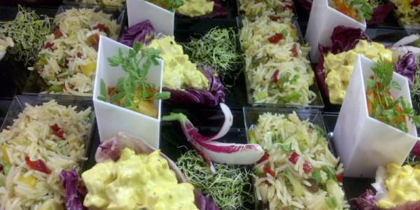 Poulet au curry et riz exotique