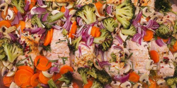 saumon aux petits légumes