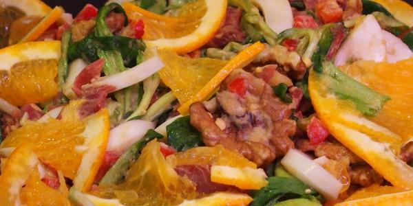 Salade composée salée-sucrée
