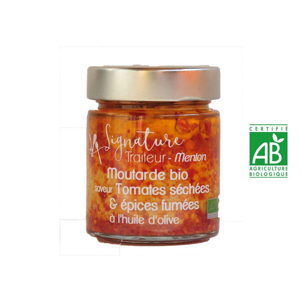Moutarde BIO saveur Tomates séchées et épices fumées
