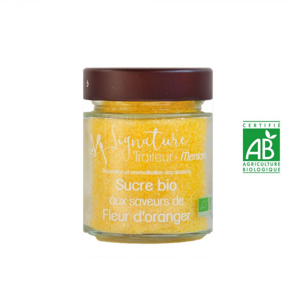 Sucre BIO aux saveurs de Fleur d'oranger