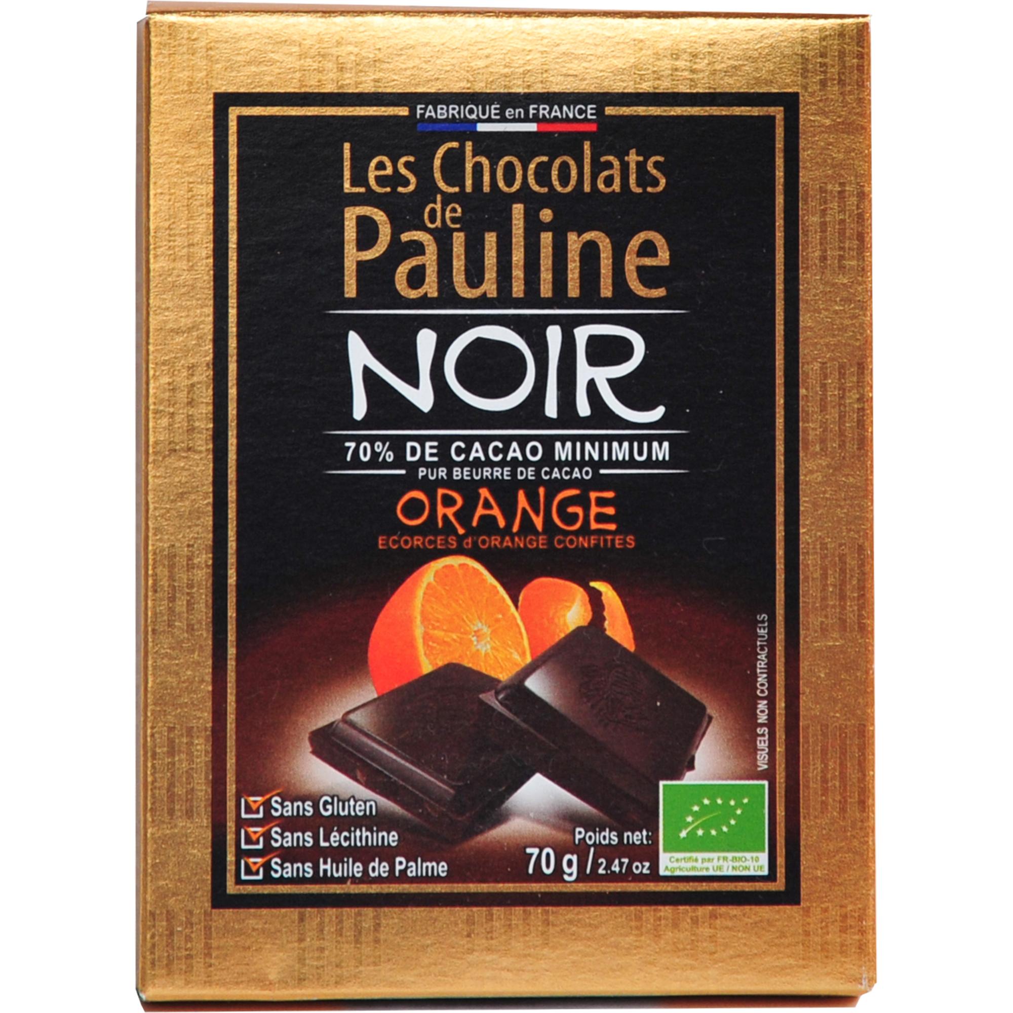 chocolat noir oranges confites bio
