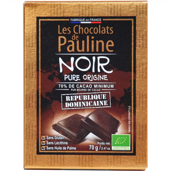 Chocolat Noir republique dominicaine bio