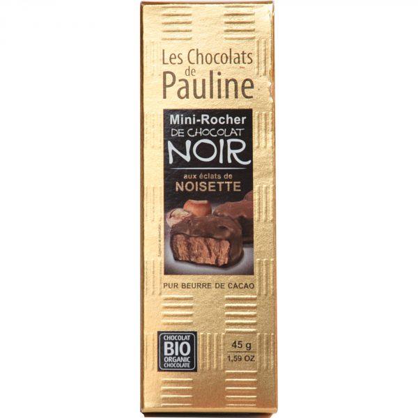 nini rocher de chocolat noir aux éclats de noisette bio